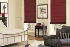 Roman Shades - Wine by the Bedside