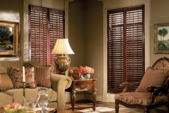 Solstice™ Wood Shutters - Living Room