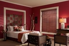 Wood Blinds - Mahogany Bedroom