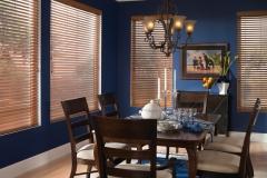 Wood Blinds - Blue Dining Room